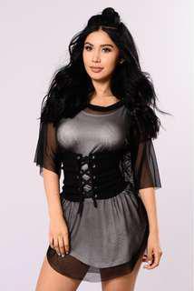 Fashion Nova Paris Lover Belt - Black