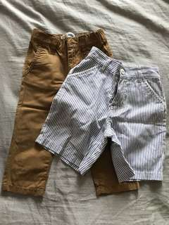 Pre-loved pants and shorts set