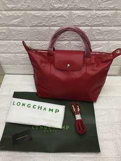 Longchamp Leather Short Handle