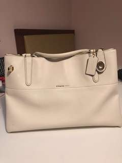 Coach white Borough purse