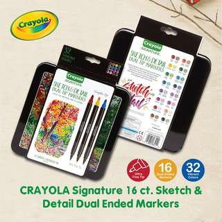 CRAYOLA 58-6511 Signature 16 ct. Sketch & Detail Dual Ended Markers