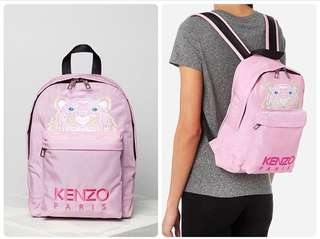 KENZO MEDIUM TIGER CANVAS BACKPACK PINK 24X33X11CM