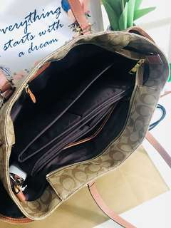 Coach Signature Baby Diaper Bag Multifunction Tote Laptop F35414