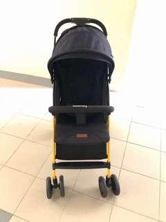 Seebaby Navy blue/orange frame stroller