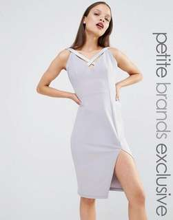 Petite Cut - Out Plunge Pencil Dress