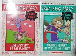 Dear Dumb Diary Year 2 Paperback bundle of 2