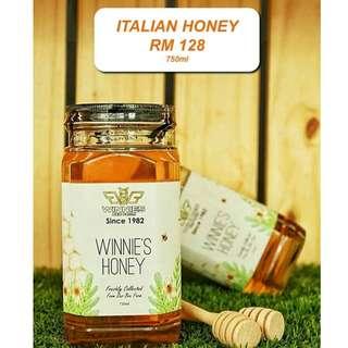 Winnie's Bee Farm 100% Authentic Raw Pure Italian Honey 750ml