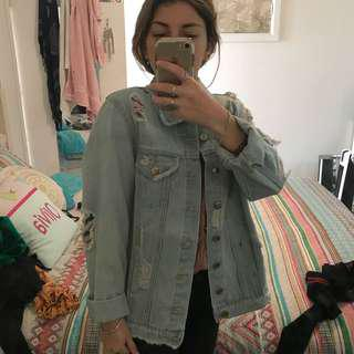 CO Collections ripped denim jacket