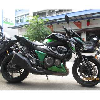 Kawasaki  Z800 2014 $14.5k D/P $1500 or $500 Without Insurance  (Terms and conditions apply. Pls call 67468582 De Xing Motor Pte Ltd Blk 3006 Ubi Road 1 #01-356 S 408700.