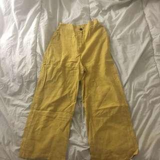 OAK+FORT YELLOW PANTS