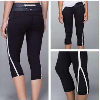 Lululemon Up the Pace Crop *all blk
