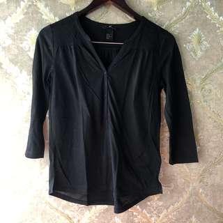 H&M Black Long Shirt