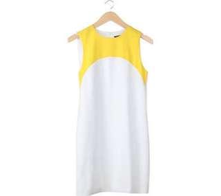 White Yellow Dress ZARA