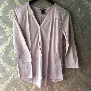H&M Baby Pink Long Shirt