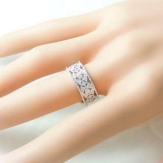 【D-W 香港鑽石世界】全新18K白金 45份 維多利亞款典雅鑽石戒指--001131-48