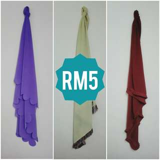 TUDUNG FOR ONLY RM5 EACH