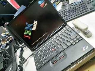 靚古董 IBM x40 已換SSD 連 docking 雙火牛 電池 全無問題 收藏品