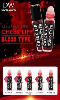 blood type cheek and liptint
