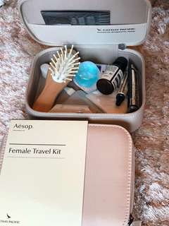 Aesop travel kit for Cathay first Class pax