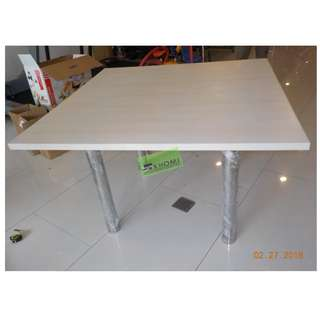 CUSTOMIZE OFFICE TABLE WITH STAINLESS STEEL LEGS 120X120cm