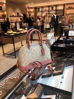 代購美國 COACH 粉色小貝殼女裝手袋