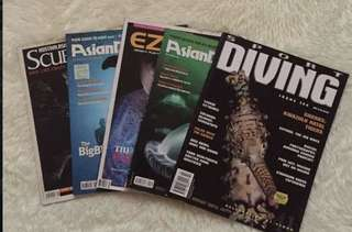 Take all for Php600!!! Back Issue Scuba Divers Magazines