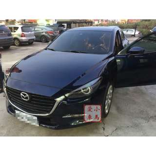 2017 Mazda 3 2.0 藍 FB收尋:小馬愛車