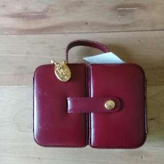 Wolf Designs red jewelry box