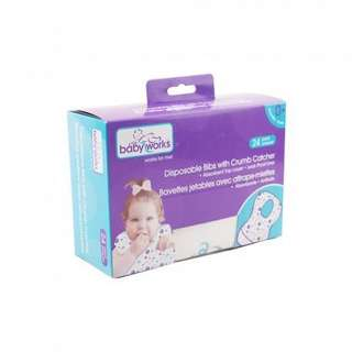 Babyworks Disposable Bibs x 12 pieces
