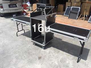 BL 16U Mixer Rack Case With L/R Table