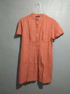 Preloved Orange Shirt (Kemeja Panjang)