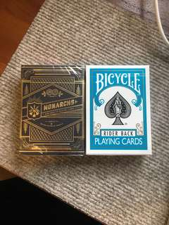Bicycle Turquoise Playing Cards & Monarchs Theory 11
