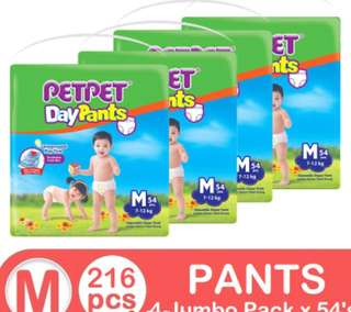Petpet Day pants diaper jumbo (4 packs)