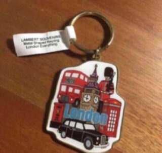 London Gold Landmark Keychain