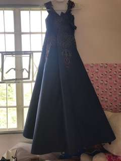Blue gown for 7th bday