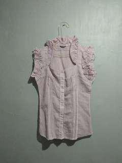 Preloved Purple-Stripped Shirt