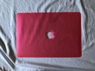 Pink case with logo cut-out (Macbook Air 13-inch)