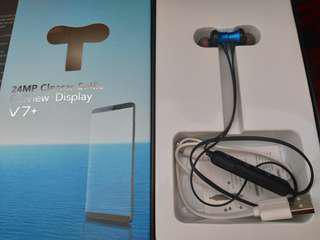 Vivo v7plus earphone bluetooth