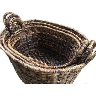 S/3 Oval Basket