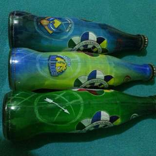 Bottles collectible items from coke