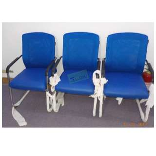 VC1101 VISITORS CHAIR MESH COLOR BLUE--KHOMI