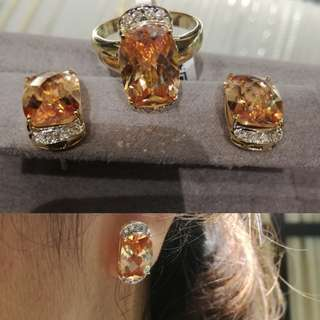 Set! Imperial Topaz Earring and Ring set.