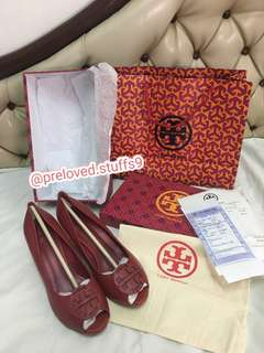Po by my cust tory burch wedges open toe