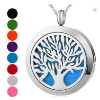 Customizable Magnet Perfume Diffuser Jewelry Women 316L Stainless Steel Aromatherapy Locket Pendant Essential Oil Necklace