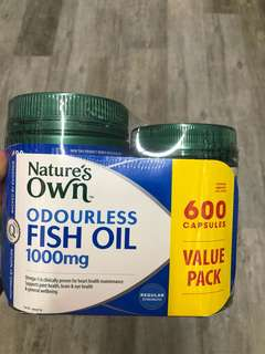 Nature's Own Fish Oil 1000mg (600 capsule)