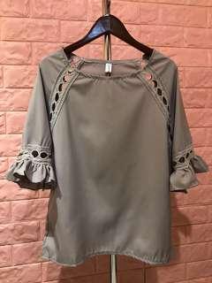 🚚 🌈❤️全新 灰色造型上衣