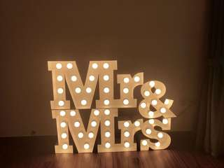 Wedding Mr & Mrs Marquee Lights Prop