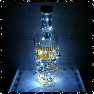 Empty Absolut Vodka Bottle (Absolut Mango, 1l)