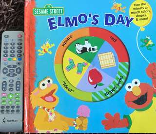 Elmo's day book hardcover board book activity book