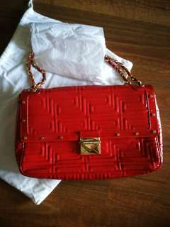 Versace Red Quilted Bag